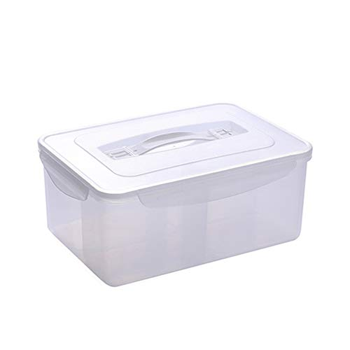 Cupcinu Multi-Function Storage Box with Lid Kitchen Supplies 4 Grid Storage Box Whole Grain Classification Sealed Box Airtight Food Storage Containers Best Kitchen Pantry Bulk Food Storage