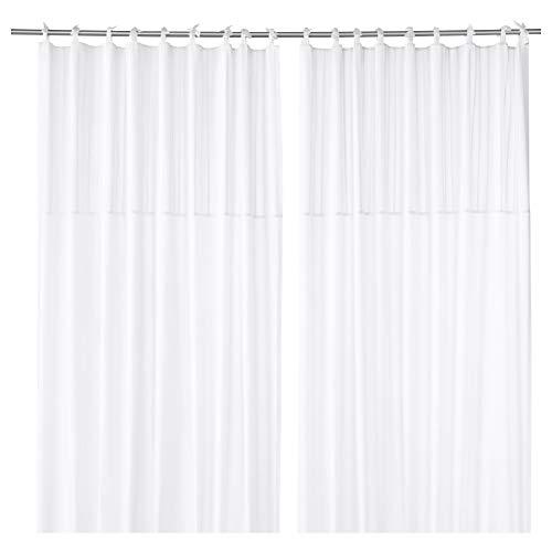 "IKEA parlblad cortinas 1par blanco 57""x 98"" 803.128.99"