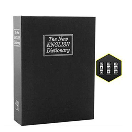 Lfhing Secret Book Safe Box Simulation libro Design Aufbewahrungsbox con castillo dormitorio Heimgebrauch