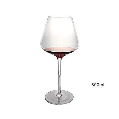 N/A Bicchiere da Vino in Cristallo, Decanter, Bicchiere da Vino in Vetro per Uso Domestico, Calice da 800 ml