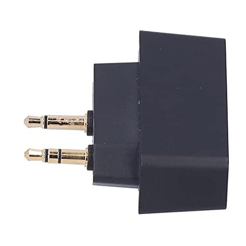 Adaptador de línea aérea, adaptador Bluetooth portátil confiable con enchufe plegable de 3.5 mm para disfrutar de la música para hombres para mujeres para disfrutar de películas