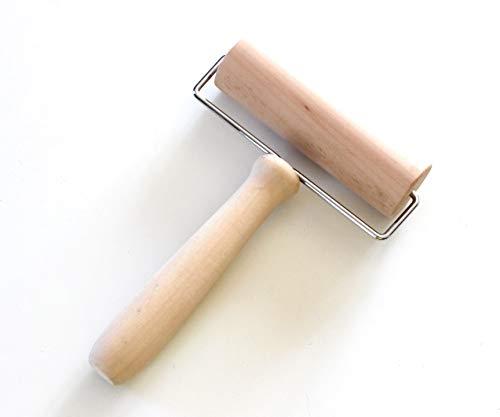 Gaitas Eduardo - Rullo di legno da usare con una sola mano, per pizza e pasta
