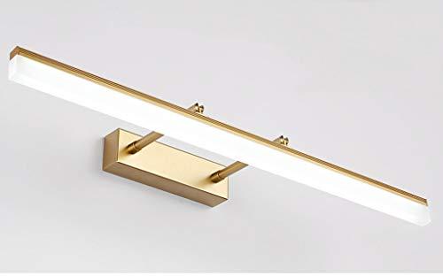 40 * 5.5CM Goldfarben Modern LED Spiegelleuchte bad Design Spiegellicht Drehba Hell Spiegellampen Badwandlampe Flexibel Badezimmer schminkspiegel Warmes Licht IP44 9W 630LM [Energieklasse A++]