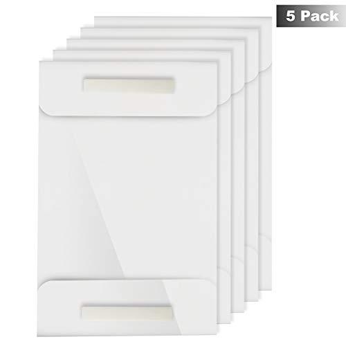 Soporte Adhesivo A4 Pared (5 Piezas) - Acrílico Carteles Exhibidor con 2 Almohadillas Adhesivas - Monturas para exhibiciones de pared para oficina, hogar, restaurante - No requiere perforación