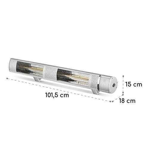 blumfeldt Gold Bar 3000 • Infrarot-Heizstrahler • Wand-und-Decken-Heizstrahler • 1000-3000 W • 3 Wärmestufen • IP65 Schutzart • gezielte Wärmeabgabe • blendungsfreie Wärme • Fernbedienung • Aluminium - 7
