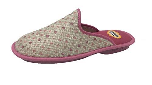 Zapatillas de Estar por casa/Mujer/Biorelax/Puntera Cerrada/Empeine: Lona/Suela: Goma/Talón Acolchado/Talla 38