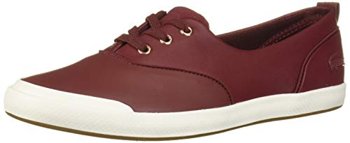 Lacoste Lancelle Sneaker, Dark red/Off White, 6 Medium US