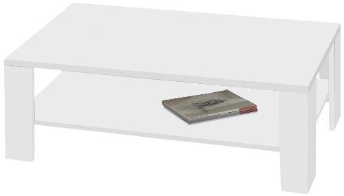 Presto mobilia 10548 Couchtisch Carla 08 100 x 60 x 44 cm, weiß