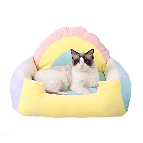 DUTUI Cat Bed, Cat Sofa, Kennel Available for All Seasons, Soft and Comfortable, Small and Medium-Sized Dog Kennel Pet Supplies