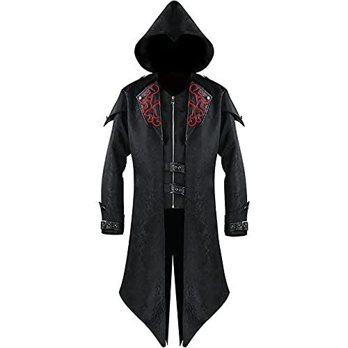 2021 Disfraz steampunk para hombre con sombrero, disfraz de Halloween, gótico, chaqueta para...