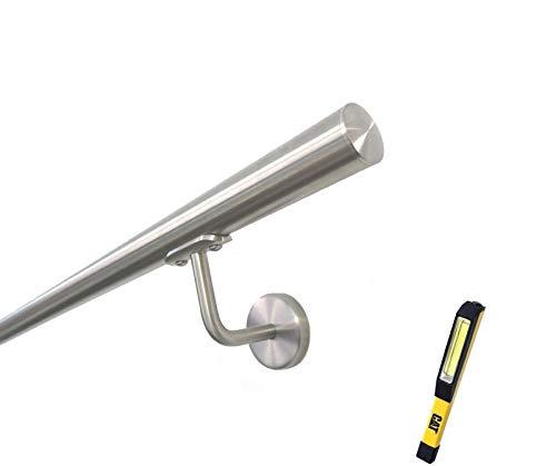 CORRIMANO IN ACCIAIO INOX AISI 304 Ø33.7MM BASIC COMPLETO DI ACCESSORI - 2750 mm.