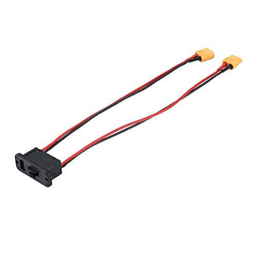 healthwen Interruptor electrónico de Corriente Grande, Interruptor de batería Lipo, Interruptor de Encendido y Apagado con Enchufe XT60, Conjunto de Modelo RC para Coche RC, Barco