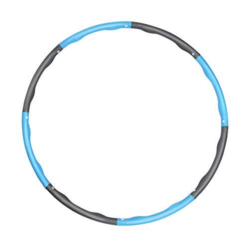 YIDAINLINE Hoola Fitness Hoop for Adults Weight Loss Weighted 11 KG Hoola Fitness Hoop for Exercise Hoola Fitness Hoops with Thicker Premium Foam Fitness Hoop Adjustable BlueGrey