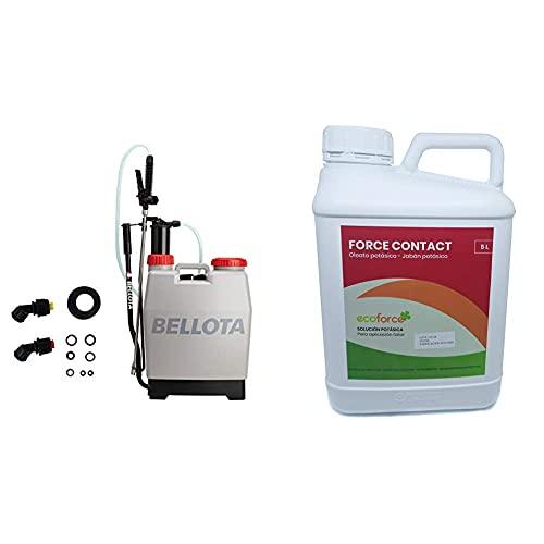 Bellota 3710-16 - Pulverizador Con Mochila, 16 Litros + Cultivers Jabón Potásico Para Plantas De 5 L; bio Actúa Por Contacto; multiple Usos