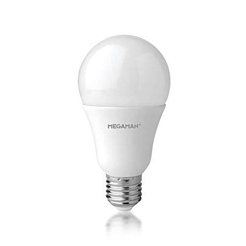 Megaman Bombilla LED 142580 regulable RichColour R9 GLS estilo clásico ópalo LED Bombilla E27 Edisoin rosca 2800K blanco cálido 13,3W 1055lm A+ Clasificación 25000 horas de vida estimada