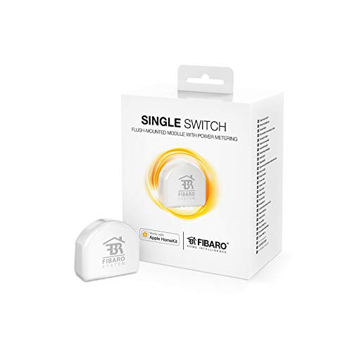FIBARO HomeKit Single Switch / iOS Bluetooth Relaisschalter, Drahtloser Ein-Aus-Auslöser, FGBHS-213