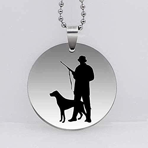 Liuqingzhou Co.,ltd Collar Collar Acero Inoxidable Cazador Perro Caza Colgante Collar Animal Perro y Cazador Collar