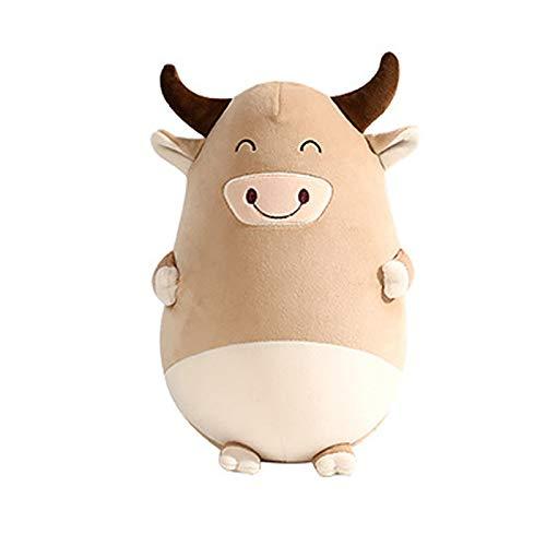 Lindos juguetes de felpa multifuncional almohada deformación de dibujos animados vaca en forma de U almohada de doble propósito