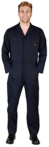 NATURAL WORKWEAR - Mens Tall Long Sleeve Basic Blended Coverall, Navy 38092-X-LargeTall