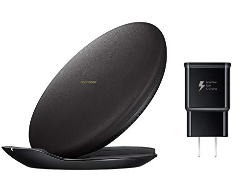 Samsung Qi Certified Fast Charge Wireless Charging Convertible Stand/Pad - US Version - Black -...