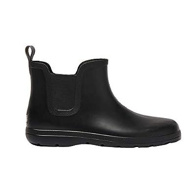 totes Men's Cirrus Chelsea Ankle Rain Boot, Black, 11