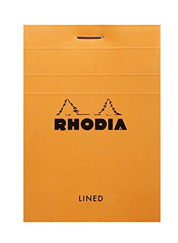 Rhodia Head Stapled Pad, No11 A7, Lined - Orange