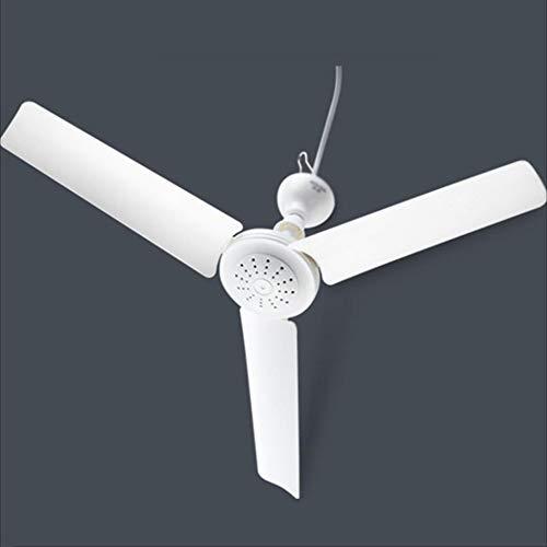 ZXZJ Ventilador, habitación del hogar, comedor, ventilador de techo, dormitorio, mosquitera, ventilador de techo, 220V, 15W Seguro no lastimarte la mano/blanco / 70Cm