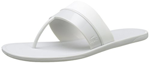 Lacoste Damen Promenade Ace 117 1 Caw Flip-Flops, Mehrfarbig (Lt Gry/Wht), 39.5 EU
