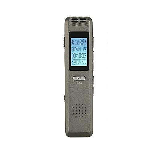 HKJZ SFLRW Digital Voice Recorder, 8 GB Voice Audio Audio Recorder Dictaphone Tape Recorder Dispositivo Registrazione con Riproduzione, MP3, Ricaricabile