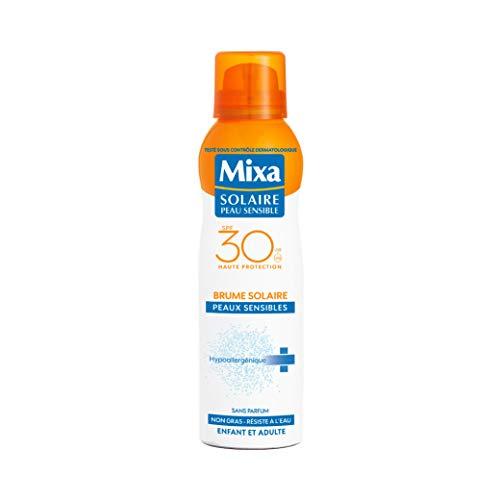 puissant Mixa Solaire Peau Sensible – Sun Mist Protection Renforcante Peau Sensible SPF 30-200 ml