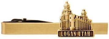 LDS Logan Utah Temple Gold Steel Tie Bar - Tie Clip - Priesthood Gift, LDS Missionary, Tie Clip