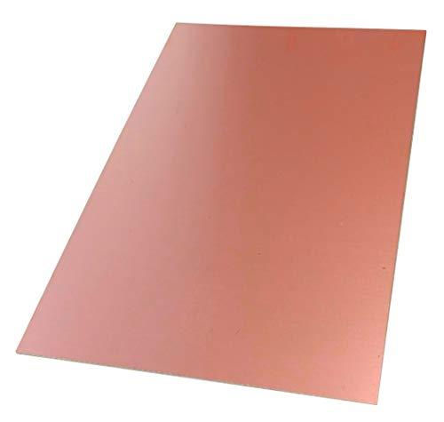 AERZETIX: Placa Hojas de Cobre para Circuito Impreso 160/100/0.6mm 18µm Resina epoxi de Fibra de Vidrio C40700