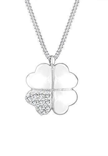Elli Halskette Damen Kleeblatt Clover mit Swarovski® Kristalle in 925 Sterling Silber
