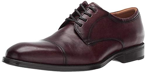 Burgundy Leather Dress Shoes for Men