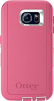 OtterBox Defender Series Case for Samsung Galaxy S6 - Case Only  No Holster  Non-Retail Packaging - Hibiscus Pink/White
