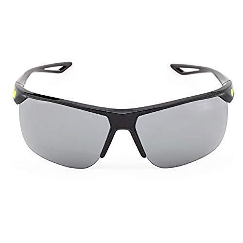 NIKE Trainer EV0934 Gafas de sol, Negro (Black/Volt W/Gy W/Sil Fl), 67.0 para Hombre