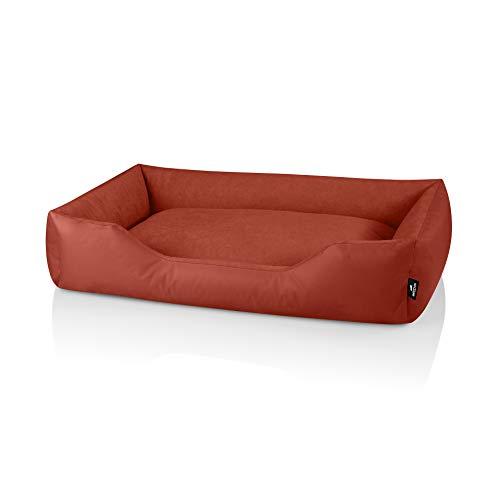 BedDog Zara colchón para Perro S hasta XXXL, 10 Colores, Cama para Perro, sofá para Perro, Cesta para Perro, XXXL, Hazelnut (ladrillo)