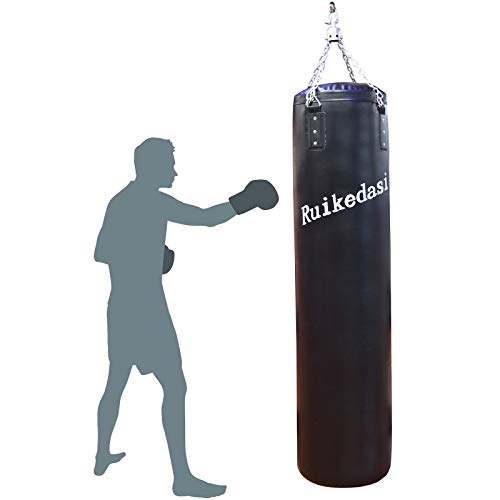 "Ruikedasi 72"" Heavy Bag Heavy Punching Bags for MMA, Black"