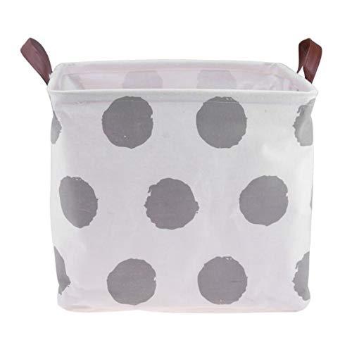 XIAOBAOZIXYL Opvouwbare wasmand, opbergmand, rond patroon-instelling, opbergemmer, kleine voorwerpen, speelgoedhouder, mand zak