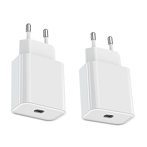 ASENTER 2 Pack 20W Cargador USB C QC 3.0 Rápida para iPhone 12/12 pro/12 Pro max/11/11 Pro MAX, iPad (No Incluye Cables)