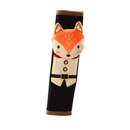 Décoration pour Ceinture de Sécurité Ceintures de Sécurité Décoration Velcro pour Enfant Voiture Auto Protège Cou 1PC (fox)