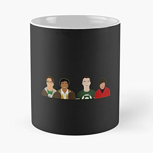 GrimDC Bang Sciences Sheldon Theory Penny Cooper Big Bigbangtheory Taza de café con Leche 11 oz