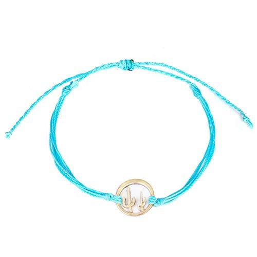 RETYLY Friendship Gift Wax Handmade Cactus Bracelet Summer Fresh Fashion Jewelry Blue