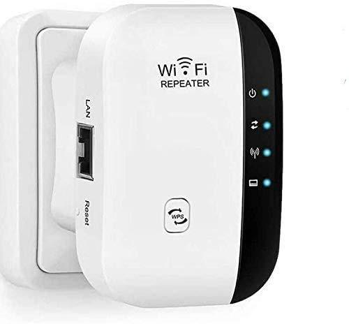 Maofuxing Repetidor WiFi, 300Mbps Extensor WiFi, Amplificador de Señal de 300 Mbps,Admite Redes WLAN de 2,4 GHz,Fácil de Configurar, Compatible con Enrutador y Fibra