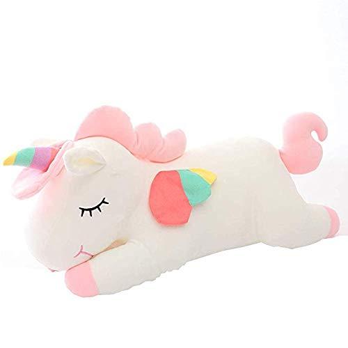 Frmarche - Peluche de unicornio de 40 cm, diseño de unicornio suave, regalo para niños, fiesta de cumpleaños, decoración (blanco)