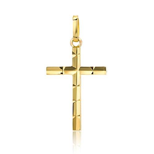 Orovi Damen Anhänger Kreuz Gelbgold Kreuzenanhänger 14 Karat (585) Gold