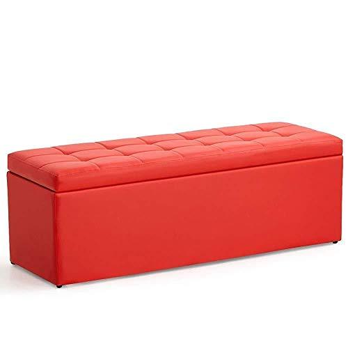 THBEIBEI Zapateros Osman Creativo Puf de Cuero Inicio Banco de Almacenaje Fine Bed heces Tienda de Ropa Largo Banda Sofá de Calzado Cambio de Banco, 300 kg, 8 Colores Opcionales