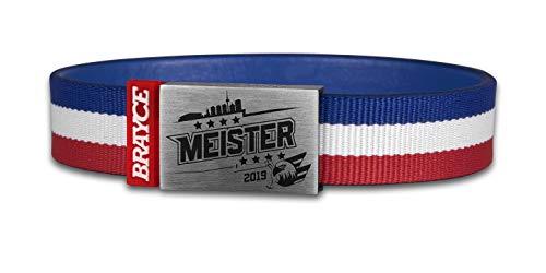 BRAYCE® Adler Mannheim Meister Armband mit exklusiver Logo Gravur I Eishockey pur mit dem DEL Champions Trikot am Handgelenk personalisierbar & handgemacht
