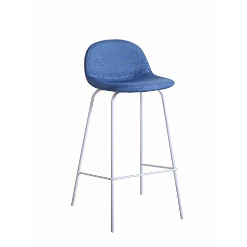 Italian Concept Sety kruk Fisso, metaal, gelakt, polyurethaan, stof, 38,5 x 41 x 84.5 cm, 2 stuks 38.5 x 41 x 84.5 cm Blauw