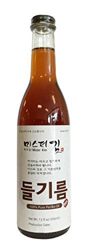 Korean Traditional 100% Perilla Oil 12oz (들기름)
